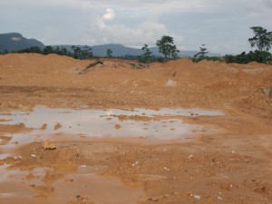 Vegetation destroyed for mining in Enyinem - Ghana
