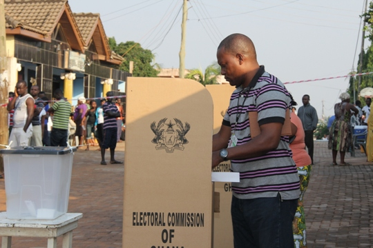 Voting in Ghana by captured  by Ghana News Agency